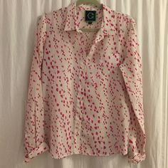C. Wonder pink patterned blouse Thin fabric that's great for spring/summer. Poly feels like silk. C. Wonder Tops Blouses