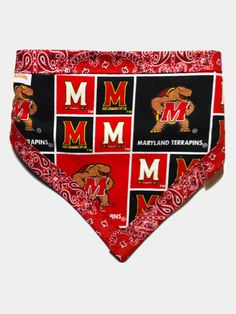 Dog Scarf with University of Maryland Cotton Fabric - Dog Bandana with Buckle  - Dog Bandanna - Most Teams Available by blanketsinbloom on Etsy