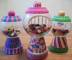 Candy Land Themed Candy Jar Set of 3 by punkimunki on Etsy, $65.00