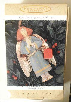 CAROLING ANGEL Hallmark 1996 Folk Art Americana Showcase Christmas Ornament