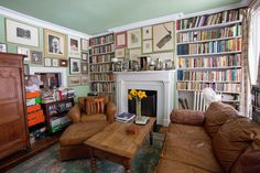 A playwright's longtime West Village townhouse bears his stamp — and that of the odd errant baseball.