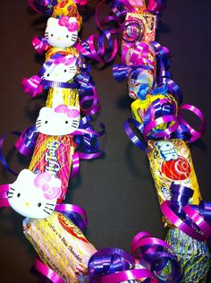 Childrens Hello Kitty Birthday Theme Candy Lei by IslandCandyLeis Hello Kitty Birthday Theme, Barbie Birthday, 20th Birthday, Birthday Parties, Birthday Ideas, Hello Kitty Baby, Hello Kitty Themes, Diy Candy Projects, Hello Kitty Jewelry