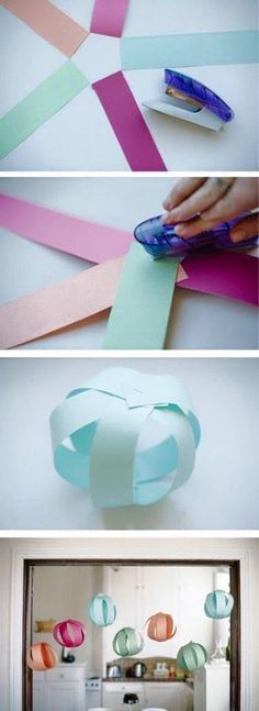 colgantes de papel