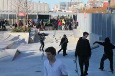 Hudson River Park – Tribeca Section/Pier 25 opens to the public mathews nielsen landscape architecture hybrid park new york  skate park