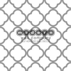 """QUATREFOIL NO-PAINT STENCIL - quartrefoil decal (open design so paint/ wall fills in open areas) 2 Sticker Sheet measuring 24"""" Inches x 24"""" Inches in your color choice."""