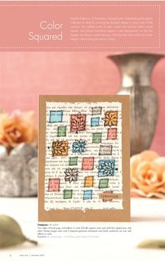 Get into the spirit of spring with the newest issue of Take Ten where you'll find inspiring ideas like this one: http://stampington.com/take-ten/Take-Ten-Summer-2013