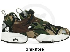 144e936c65389e Reebok Insta Pump Fury x AAPE by A Bathing Ape Camo Green Black (V53879)