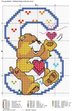 alfabeto degli orsetti del cuore: S