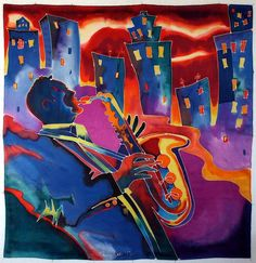 "Jazz"" silk by Kamila Karst"