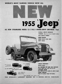 Jeep CJ-5 Ad (1955)  I drive one of these at my house!!!! ☺