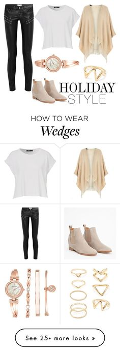 """""""Holiday Style - Leather Pants : Contest Entry"""" by rubstar on Polyvore featuring Yves Saint Laurent, Dorothy Perkins, Anne Klein, Forever 21 and holidaystyle"""