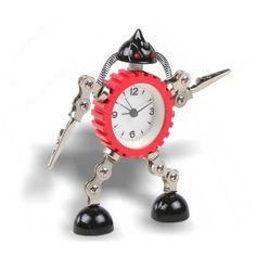 Unique Metal Gear Robot Clock