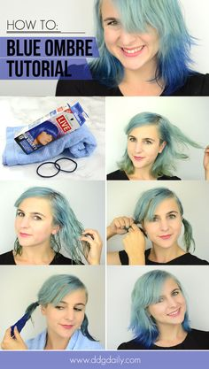 Hair how to: A super easy blue ombre tutorial