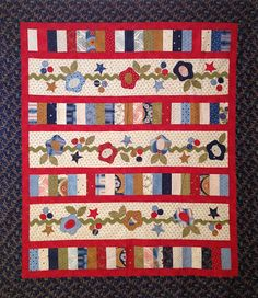 Finished quilt top by myreddoordesigns on Etsy, $50.00