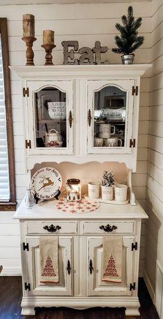 Refurbished Furniture, Repurposed Furniture, Home Decor Furniture, Furniture Makeover, Painted Furniture, Diy Home Decor, Small China Cabinet, Farmhouse China Cabinet, Country Decor