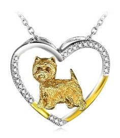 Cairn Terrier Sterling Silver Heart Necklace