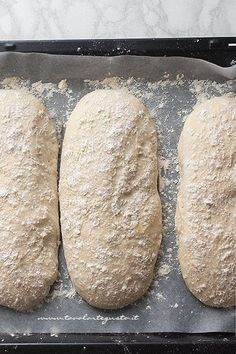 Recipe Homemade bread: Basic bread dough (quick and simple) Pizza Recipes, Bread Recipes, Cooking Recipes, Ciabatta, Focaccia Pizza, Pain Pizza, Biscotti, Homemade Pasta, My Favorite Food