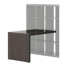 EXPEDIT Escritorio - negro-marrón - IKEA