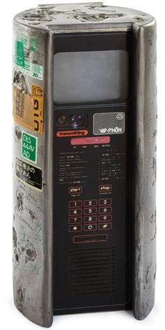 """scipunk: """"SP. Blade Runner Phone Booth, Vid-Phon. """" Réplica de la cabina telefónica de video llamadas que figura en la película Blade Runner (1982)."""