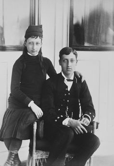 Prince Albert Victor and Princess Louise of Wales, 1880