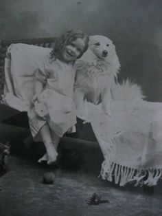 Huge Antique Lithograph Darling Baby Girl Dog Primitive Country Picture Child   eBay