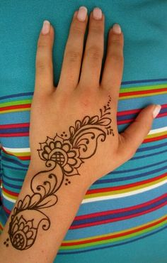 Henna tattoo would love this as a real tattoo would be easy to continue it on, make it bigger