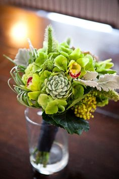 green bouquets ORCHIDS