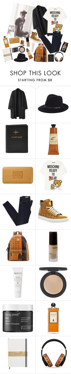 """Travel style"" by peachgirl100 ❤ liked on Polyvore featuring moda, Zucca, rag & bone, FOSSIL, Crabtree & Evelyn, Erno Laszlo, Moschino, AG Adriano Goldschmied, MCM i Korres"
