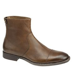 WESTMORE CAP TOE BOOT - Cognac Italian Calfskin from Johnston & Murphy