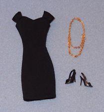 BARBIE BASICS #12 Black DRESS BELT SHOES Fashion Doll Clothes Outfit Model Muse