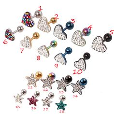 Find More Body Jewelry Information about 2PCS/Lot 6mm heart and star Tragus Eearring Helix Cartilage Lip Labret Piercing Ring,Fashion Jewelry For Women Christmas Gift,High Quality jewelry sayings,China ring structure Suppliers, Cheap jewelry america from DreamFire Store on Aliexpress.com