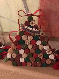 Wine cork Christmas tree