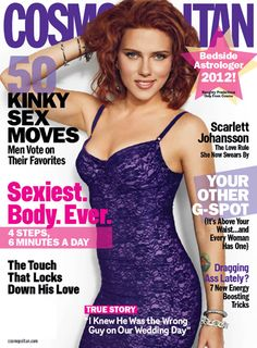 Scarlett Johansson is Cosmopolitans January 2012 covergirl