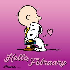 Charlie Brown and Snoopy welcome February Hello February Quotes, Welcome February, Peanuts Cartoon, Peanuts Snoopy, Peanuts Comics, Snoopy Love, Snoopy And Woodstock, Snoopy Valentine, Valentines