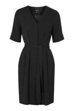 Belted Button-Down Dress