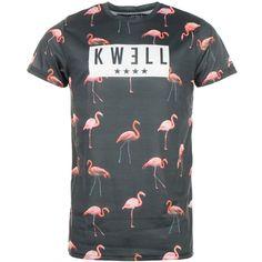 Tee Shirt Oversize Kwell Flamingo Noir - LaBoutiqueOfficielle.com