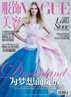 Lara Stone for Vogue China - December 2010