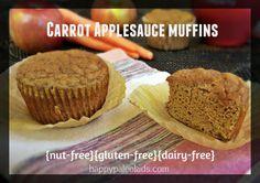 Paleo Carrot Applesauce Muffins