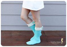 PREORDER  Boot Socks Kids Lacey Knitted by MarkaDecorFashion