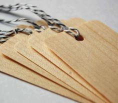 Balsa Wood Packaging Tags by londontierney on Etsy, $5.50
