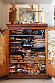 wovens cabinet...  via palemauve tumblr