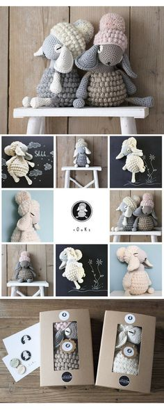 y O o K i the sleepy sheepy Crocheted Lamb made of cotton and cotton/merinoblend, filled with cotton/wool/kapok I'm Pregnant, Arm Knitting, Diy Kits, Kids Toys, Lamb, Decoupage, Craft Supplies, Crochet Hats, Diy Projects