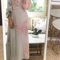 Luxury caftan available whatsaap order Price. Modern Hijab Fashion, Abaya Fashion, Muslim Fashion, Fashion Dresses, Hijab Evening Dress, Hijab Dress Party, Muslim Evening Dresses, Muslimah Wedding Dress, Hijab Fashionista