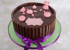 We produces delicious handmade and beautifully decorated cakes and confections for weddings, celebrations and events. Pigs In Mud Cake, Pig In Mud, Handmade Wedding, Celebration Cakes, Celebrity Weddings, Heavenly, Cake Decorating, Birthday Cake, Celebrities