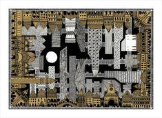 Italo Calvino's 'Invisible Cities', Illustrated (Again),Maurilia . Image © Karina Puente Frantzen