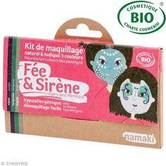 Achetez à prix mini le produit Kit de maquillage bio Fée et sirène - 3 couleurs - Livraison rapide, offerte dès 39 € !