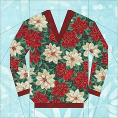 The Original Ugly Christmas Sweater Block - 6 inch and 10 inch PDF Paper Piecing Pattern Ugly Sweater, Ugly Christmas Sweater, Sweater Quilt, Beginning Quilting, Paper Pieced Quilt Patterns, Foundation Paper Piecing, Pattern Blocks, Quilting Ideas, Quilt Blocks