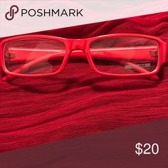 Stylish Glasses Red Frame Clear Lense Can Be Used for Prescription Fill Accessories Glasses