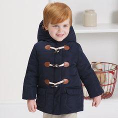 Płaszcz z kapturem dla chłopca