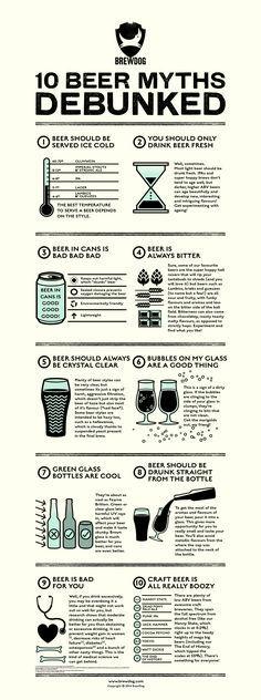 10 Beer Myths infographic for BrewDog by United Creatives. More Beer, Wine And Beer, Beer Pairing, Beer 101, Beer Quotes, Home Brewing Beer, Beer Recipes, How To Make Beer, Best Beer